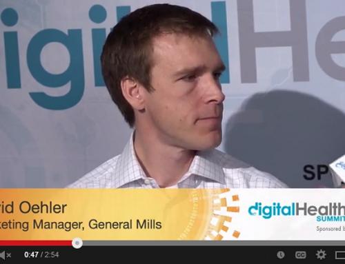 David Oehler, General Mills, Digital Health Summit CES 2014, hosted by Tim Reha