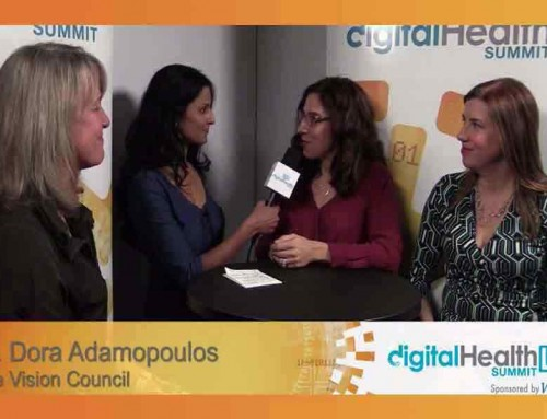 Dr. Dora Adamopoulos, The Vision Council and Victoria Brilz, 4iiii and Lygeia Ricciadi, Clear Voice Consulting at DigitalHealthLIVE @ CES