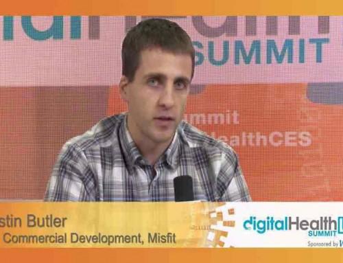 Justin Butler, VP of Commercial Development, Misfit visits DigitalHealthLIVE @ CES WebMD Lounge
